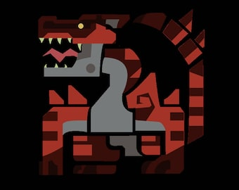 Magma Tigrex Cross Stitch Pattern