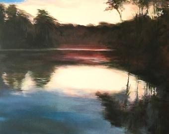 Silver Lake Dawn, 24x36 Original Oil Painting