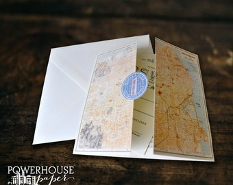 San Francisco Map DIY Wedding Invitation
