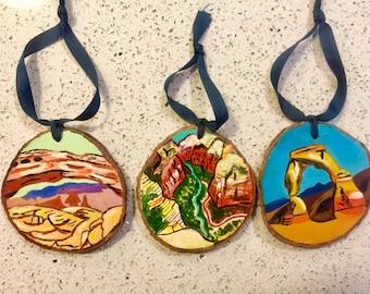 National Park Tree Ornament - Set of 4