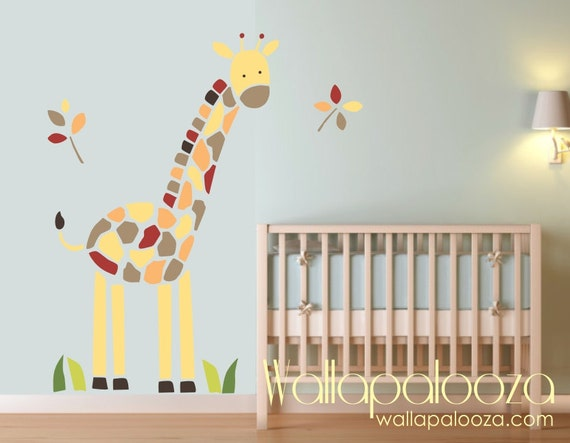 Giraffe Wall Decal Nursery Wall Art Giraffe Wall Art