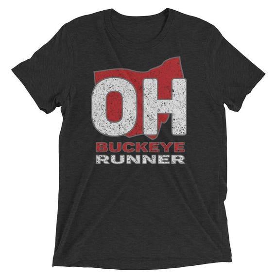 Men's Buckeye Runner TriBlend T-Shirt - Run Ohio - Men's Short Sleeve Running Shirt