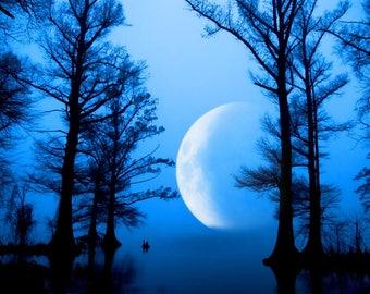 Blue Moon over Reelfoot Lake