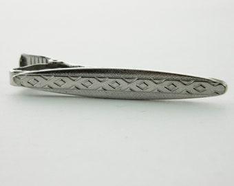 Vintage Silver Mojave Print Tie Clip
