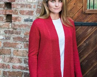 PDF Knitting Pattern Lexington Top-Down Cardigan #B116