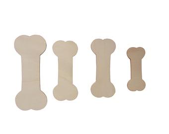 Wooden bones silhouettes set 4 pieces different sizes