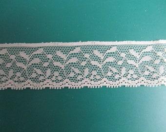 fine ecru lace in 25mm in height