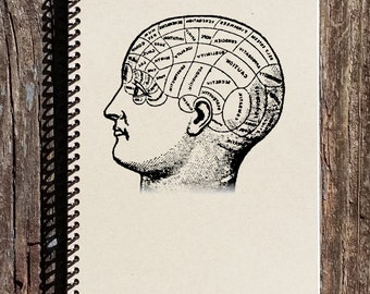 Phrenology Head Journal - Phrenology Notebook - Mind Science - 19th Century Science