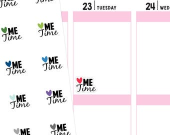 Me Time Planner Stickers, Me Time Stickers, Font Stickers, Script Stickers, Calligraphy Stickers
