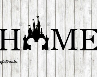 Disney Castle Home Vinyl Decal | Yeti Decal | Car Decal | Laptop Decal | Vinyl Decal | Home | Disney World | Castle | WDW | Cinderella