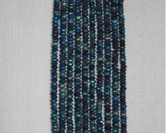 AB, AB Labradorite, Blue Labradorite, Labradorite Rondelle, Faceted Rondelle, Semi Precious, Gemstone, Half Strand, 6-7 mm, AdrianasBeads