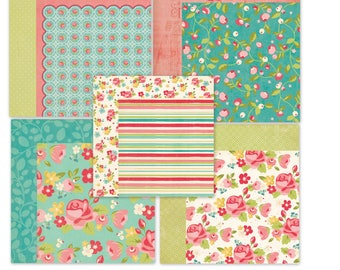 PAPER LOT Kit / My Mind's Eye / 10 Sheets / MME -  Hello Gorgeous Collection  / 12 x 12 inches /Double Sided