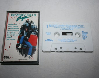Vintage Cassette Tape, Beverly Hills Cop, Movie, Motion Picture Soundtrack, 1984