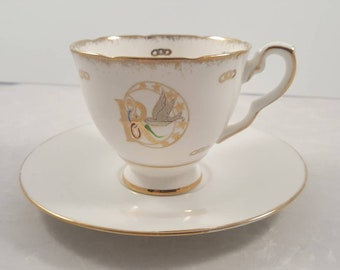 Vintage Rebekah Royal Stafford teacup and saucer