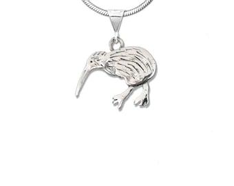 Sterling Silver Kiwi Bird Pendant