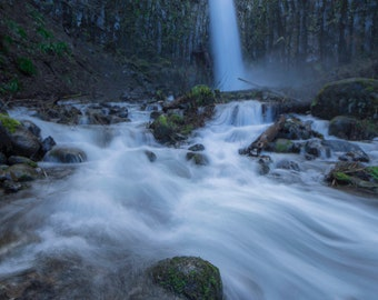 Dry Creek Falls in the Columbia River Gorge, Oregon |  Pacific Northwest Photography | Print | Metal, Canvas, Lustre