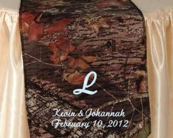 Mossy Oak Personalized Table Runner for Wedding or home