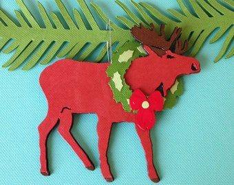 Moose Christmas tree ornament