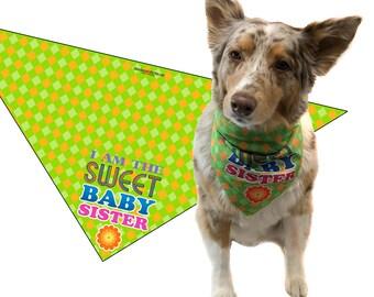 Baby Sister Dog Bandana - Dog  Scarf Accessory - Great Dog Gift Idea (Medium to Large) - 46031