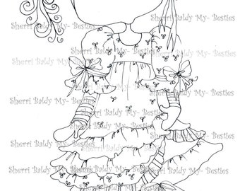 INSTANT DOWNLOAD Digital Digi Stamps Big Eye Big Head Dolls My Besties Pals My Little Dimples Img010  By Sherri Baldy