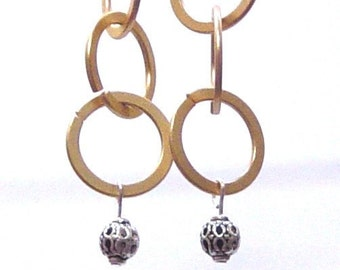 Ring Ring Earrings in matte Gold