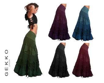 FLAMENCO SKIRT, wrap Skirt, GYPSIE skirt, long skirt, maxi skirt, Clskzf