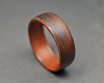 Wooden Ring, Indian Rosewood Wedding Band, Wood Ring, Bentwood Ring - Wood Engagement Ring - Wooden Wedding Ring - Wooden Wedding Band.