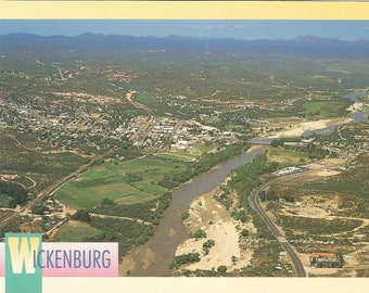 Vintage Postcard Wickenburg Arizona Aerial View Scenic Stunner Hassayampa River United States USA 1980s Photochrome Card Postally Unused