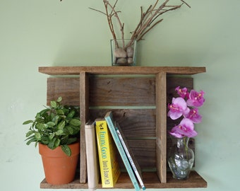 Wall Cubby Reclaimed Wood, Rustic Display Shelf, Rustic Shadow Box