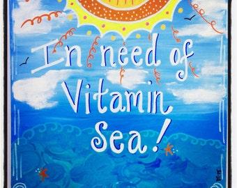 Ocean Beach Love 11x14
