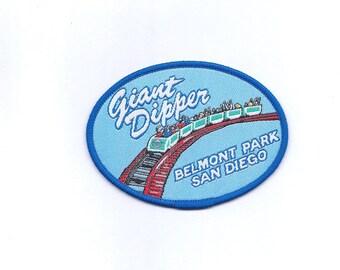 Vintage Giant Dipper Belmont Park San Diego California Roller Coaster Patch