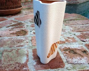 Modernist Abstract Ceramic Vase Pebble Glaze
