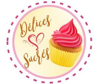Custom logo pre designed cupcake muffin baking cake shop premade cake logo