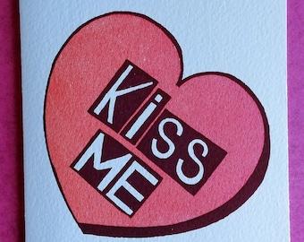 Card(single)/ Valentine :Kiss ME