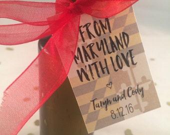 from maryland with love // wedding favor tags // printable file // custom