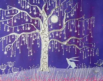 Tree of Stars high quality mini print