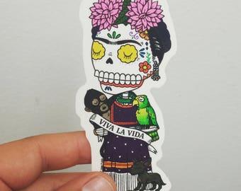 Viva La Vida Calavera Clear Vinyl Sticker Day of the Dead