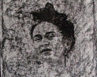 Portrait of Frida Kahlo Ghost version