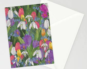 Spring Flowers a6 greetings card