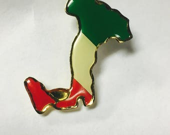 Italian Country & Flag Pin