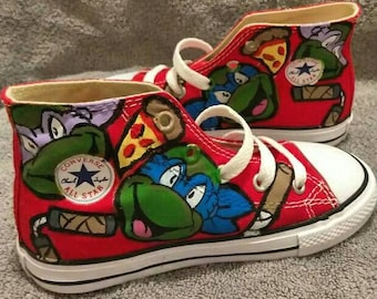 TMNT DELUXE custom toddler/KIDS Converse
