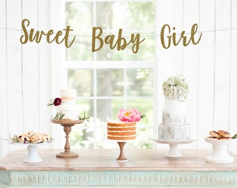 Sweet Baby Girl Banner  Itu0027s A Girl   Baby Shower Banner   Baby Shower  Decorations   Baby Shower Decor   Baby Girl Shower Decor