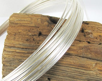 10 gauge half Round, sterling silver wire, 1 ft of wire, 10 gauge sterling  wire, half round wire, stack ring wire, bangle wire
