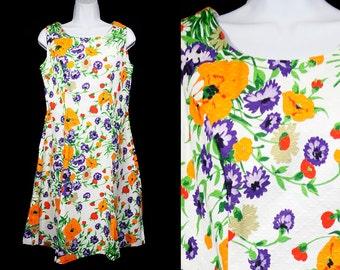 Vintage 60's WALDEN CLASSICS Floral Sun Dress M