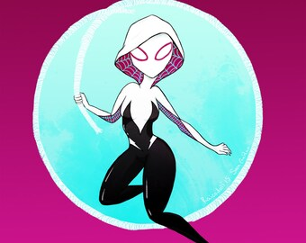 CLEARANCE! Spider-Gwen Gwen Stacy Art Print- 4x6
