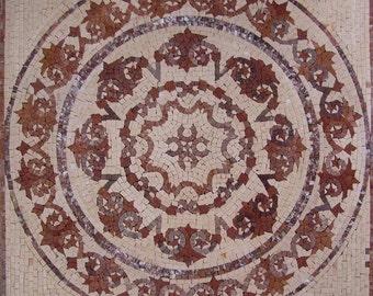 Flower Mosaic Art Tile - Galina