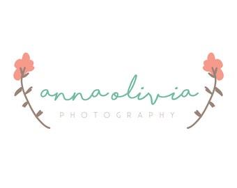 Pre-Made Floral Feminine Logo