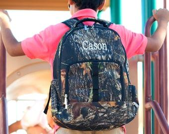 Personalized Camo Backpack- Woods Camo Backpack- children's-toddler-preschool-teen- back to school