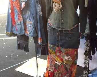 Womens Vintage Denim Jacket stonewashed black
