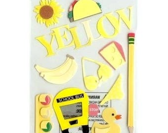 Stickers 3D Goodies yellow Jolee's creative cardmaking scrapbooking